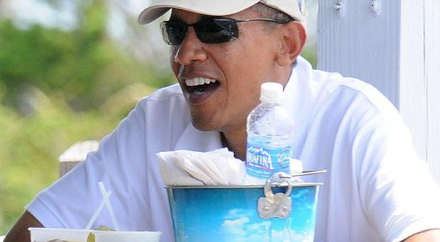 President Barack Obama on holiday in Florida