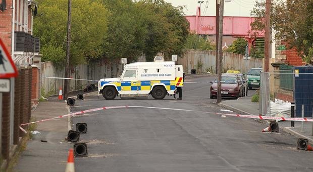 The scene of the explosion in Lurgan
