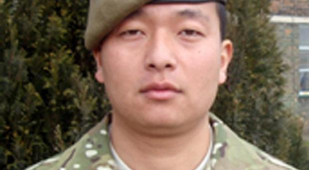 Tributes paid to Rifleman Remand Kulung, the British soldier from 1st Battalion The Mercian Regiment, who died in hospital on Thursday
