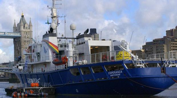 Greenpeace said special forces teams are being sent to confront the Esperanza