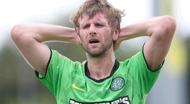 Paddy McCourt was forced off the pitch injured on Saturday after scoring the winning goal for Celtic at Inverness