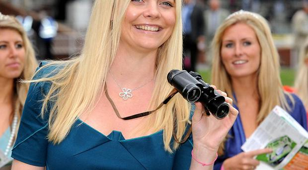 Jemma Kidd attended Ladies Day at Newbury Races