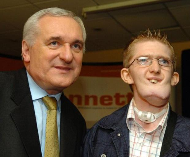 Taoiseach Bertie Ahern meets Alan Doherty