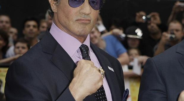 Sylvester Stallone's movie is No 1 in America