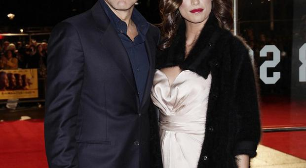 George Clooney and Elisabetta Canalis are apparently not engaged