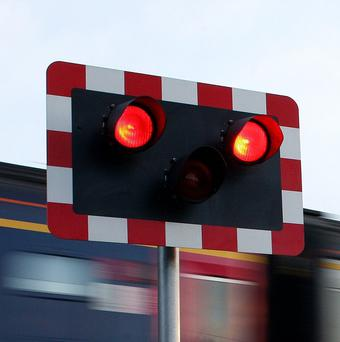 Ten people were injured in an accident at a Suffolk rail crossing