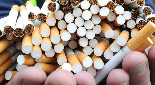 More than 1,000 cigarettes have been seized from an ice-cream van in Carrickfergus
