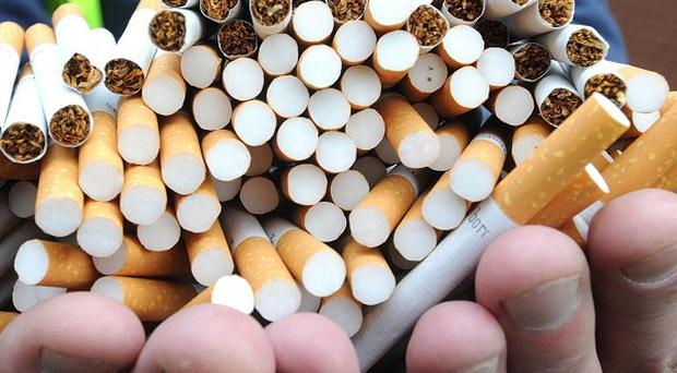 More than 300,000 smuggled cigarettes were seized from a van in Co Down