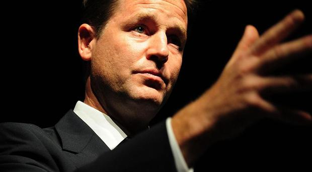 Nick Clegg has promised 'actions not words' on tackling climate change