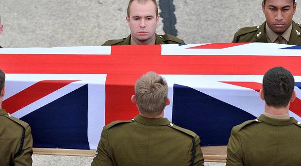The repatriation ceremony at RAF Lyneham in Wiltshire for Sapper Darren Foster who was killed in Afghanistan