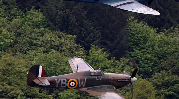 The Battle of Britain ceremony will be followed by a fly-past from a Spitfire and Hurricane