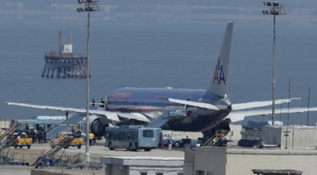 American Airlines Flight 24 was grounded at San Francisco International airport