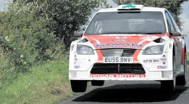 Race ace: Gareth MacHale was the driver to catch as he powered ahead in his Ford Focus at the Ulster Rally