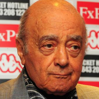 Mohamed al Fayed has revealed he had the store's royal warrants taken down and burned