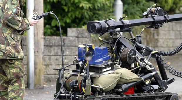 Army experts made safe a home-made bomb at a house in Co Wicklow