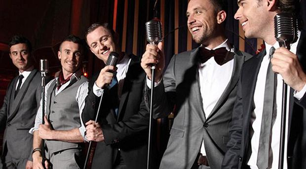 The Overtones, a group of decorators painting the town red after landing a major record deal