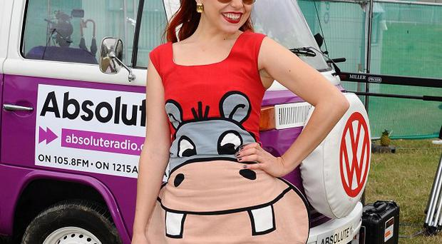Paloma Faith backstage at the Absolute Radio VIP area during the Virgin Media V Festival at Hylands Park in Chelmsford