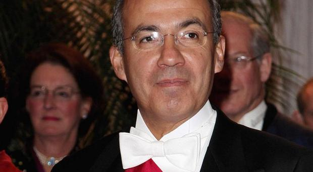 Mexican President Felipe Calderon stepped up the fight against drug trafficking when he took office in 2006