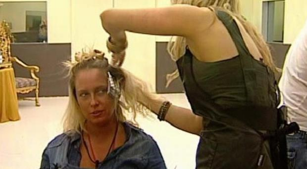 Josie enjoys a makeover as part of the Big Brother pamper day