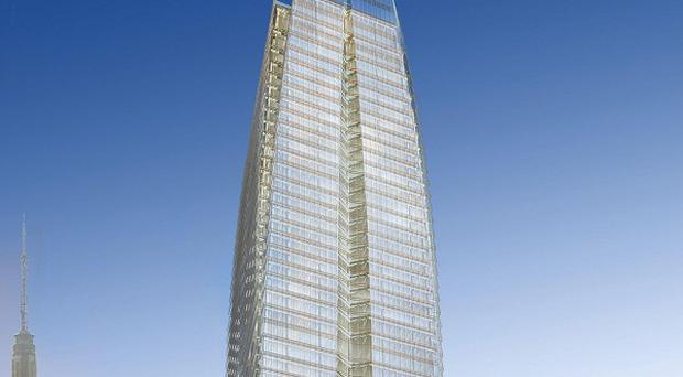 One of the proposed designs for 15 Penn Plaza in Midtown Manhattan (AP)
