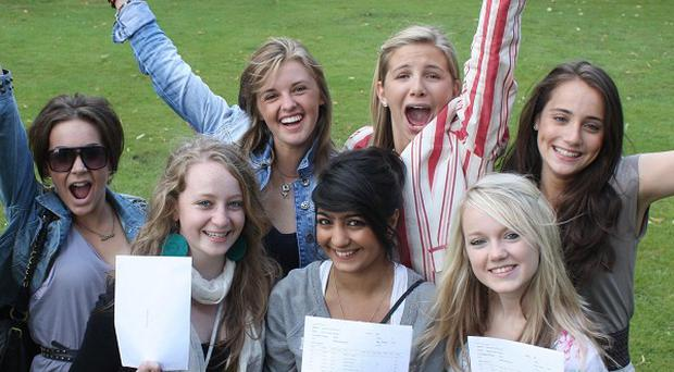 Sheffield High School netballers celebrate their GCSE results