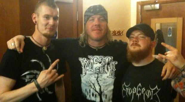 Stephen (left) with Fear Factory