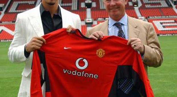 <b>1) Rio Ferdinand</b><br/> <b>Price:</b> £31.1million <b>Age:</b> 23 (at time of transfer) Leeds to Manchester United, July 2002<br/> Remains the most expensive English player following Sir Alex Ferguson's swoop on rivals Leeds for the England international centre-half in 2002. It has been a good move for both club and player although Ferdinand has been cursed by injury in the last few seasons.
