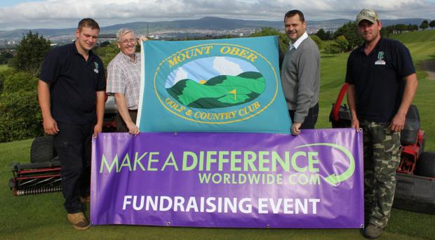 Glenn Dunlop (second from right) joins officials from Mount Ober Golf Club to launch the clubs charity event this weekend in aid of an orphanage in Malawi