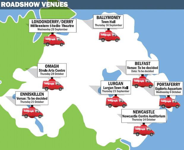 The Belfast Telegraph's Tell Us About It roadshows will be taking in venues across the province