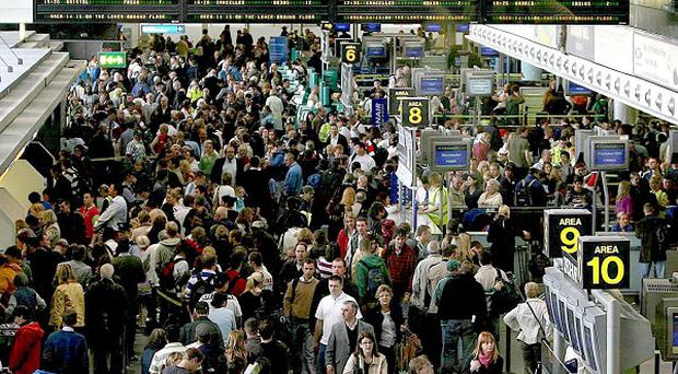 Overseas visits to Ireland were down more than 20 per cent, figures show