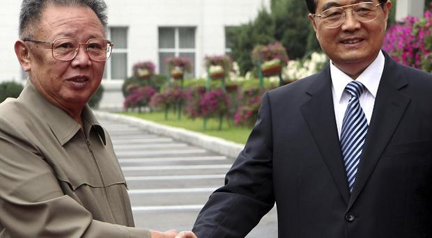 Chinese President Hu Jintao meets with North Korean leader Kim Jong Il in Changchun, in north-east China (AP)