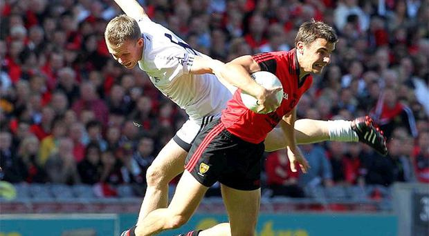 Danny Hughes (right) played a starring role against Kildare on Sunday and he will be expected to deliver a big performance in the final