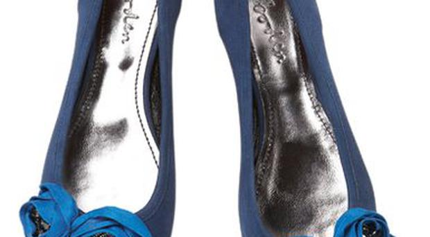 <b>1. Boden</b><br/> These sapphire pumps, embellished with a grosgrain rose corsage, are perfect for evening or for princess chic in the daytime. <br/> <b>Price:</b> £79 <br/> Boden.co.uk