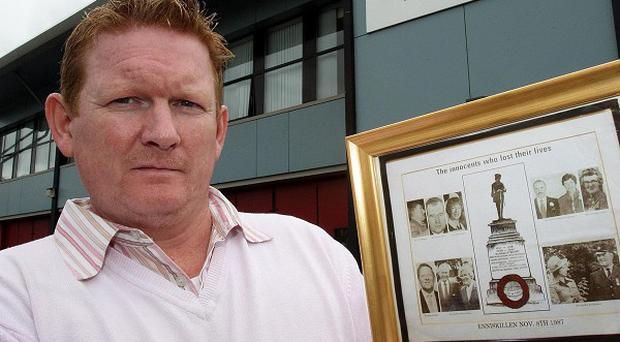 Stephen Gault called for a memorial to the victims of the Poppy Day bombing in Enniskillen to be reinstated
