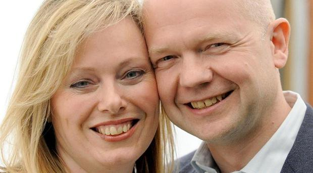 Foreign Secretary William Hague said his wife Ffion had suffered several miscarriages