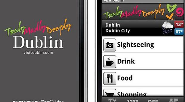 A virtual tour guide to help Dublin's 3.8 million visitors learn about its most famous landmarks was launched