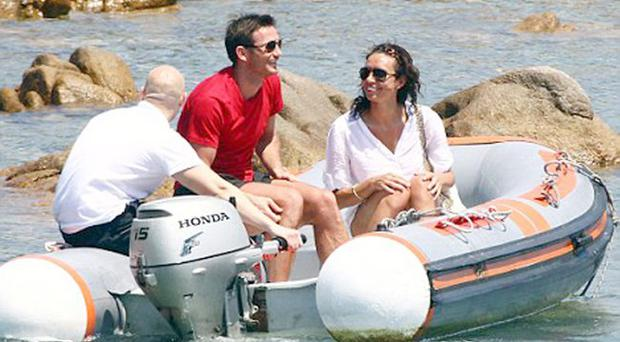 Christine Bleakley and Frank Lampard holiday in Sardinia