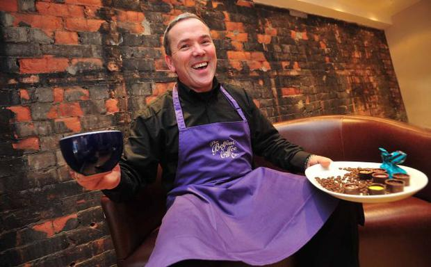 Own brew: Denis Troughton, owner of Belfast Coffee Company, Belfast