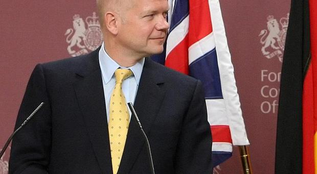 William Hague has called on all parties in the Middle East peace process to show 'courage'