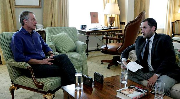 Former Prime Minister Tony Blair talks to our political editor David Gordon in Dublin yesterday