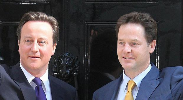 David Cameron and Nick Clegg insisted the coalition was 'here to last'