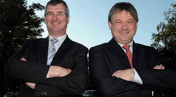 Tom Elliott (left) and Basil McCrea are contesting the UUP leadership