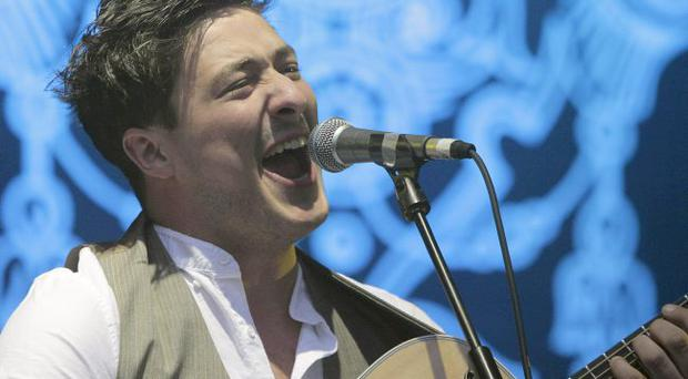 Mumford and Sons play the main stage at the Electric Picnic Festival at Stradbally House in Co Laois. Spetember 2010