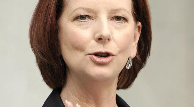 Australian prime minister Julia Gillard, whose future will be decided by the vote of three independent MPs
