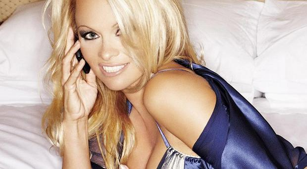 Pamela Anderson, who stars in a new campaign for phone company Nokia.