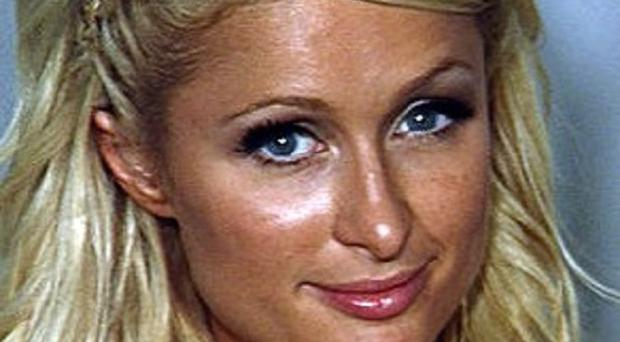 Paris Hilton in a police booking photo in Las Vegas