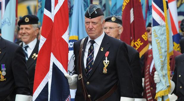 Former RAF personnel attend a service of remembrance at St Paul's Cathedral in London