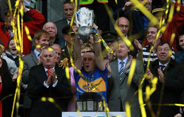 Dignified: The presentation of the Liam McCarthy Cup to Tipperary last Sunday