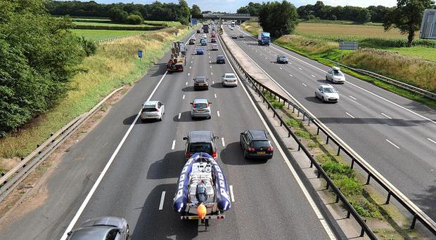 Two pedestrians have died on the M6 in Cheshire, police said