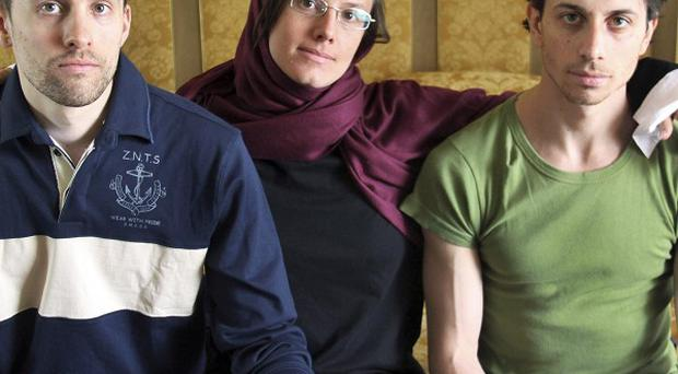 American hikers Shane Bauer, Sarah Shourd and Josh Fattal have been held in Iran (AP)